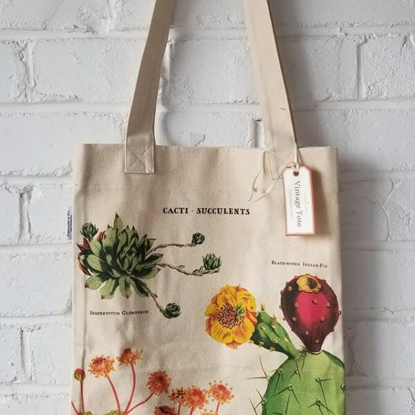 Cacti Succulents Canvas Tote Bag
